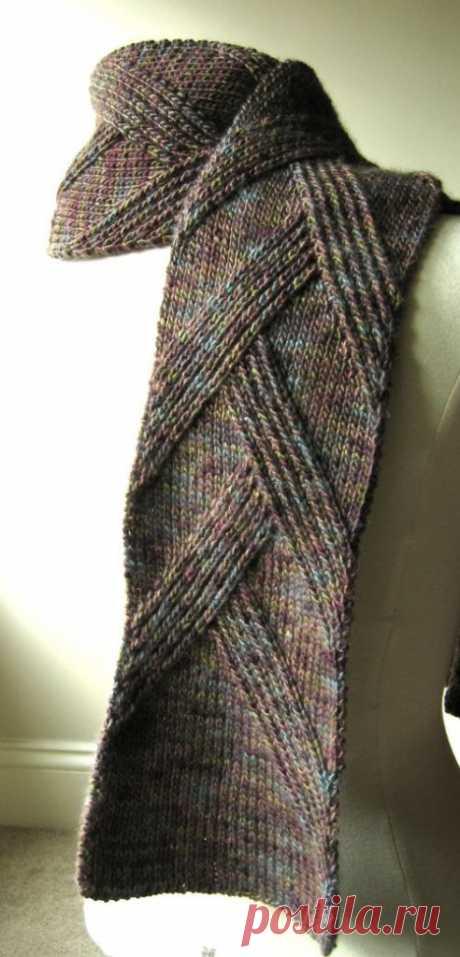 Стильный мужской шарф от Margarete Dolff | Вязание спицами и крючком – Азбука вязания