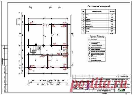 Проект электрики дома пример 532