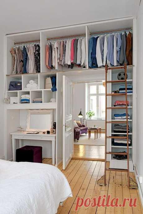 10 необычных способов обустроить гардеробную в квартире