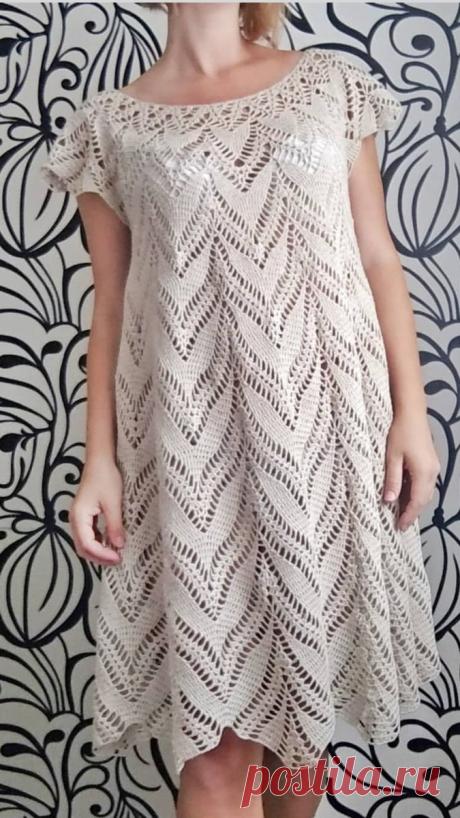 5 элегантных платьев крючком и спицами на любую фигуру. Схемы. | Дневник многодетной мамы | Яндекс Дзен