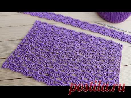 Простой УЗОР крючком МАСТЕР-КЛАСС по вязанию СХЕМА узора Easy to Crochet Tape Lace pattern