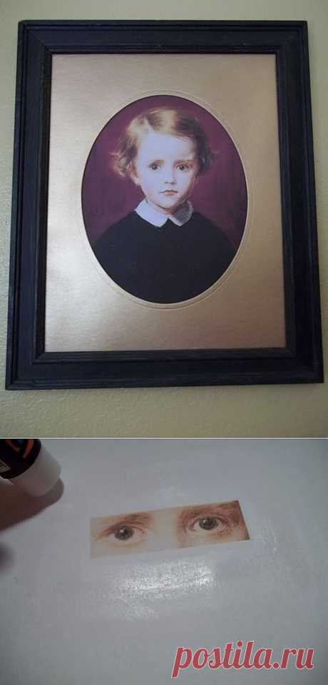 El retrato, que sigue por la mirada, (Diy) \/ los Objetos del arte \/