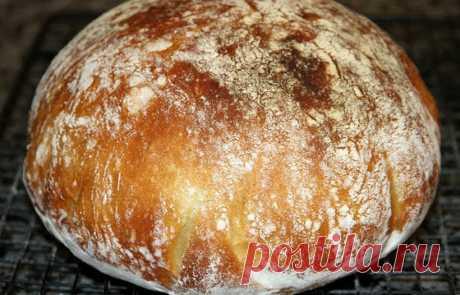 Очень вкусный хлеб без замеса - получается у всех! Очень вкусный хлеб без замеса! Получается у всех!