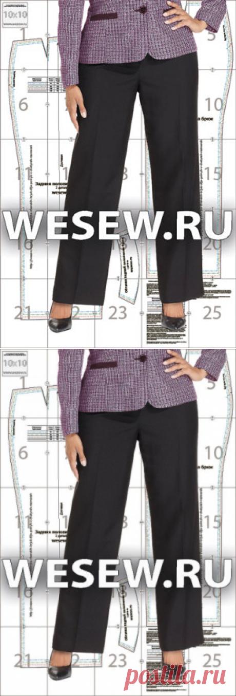 Готовая выкройка женских брюк для полных в четырех размерах