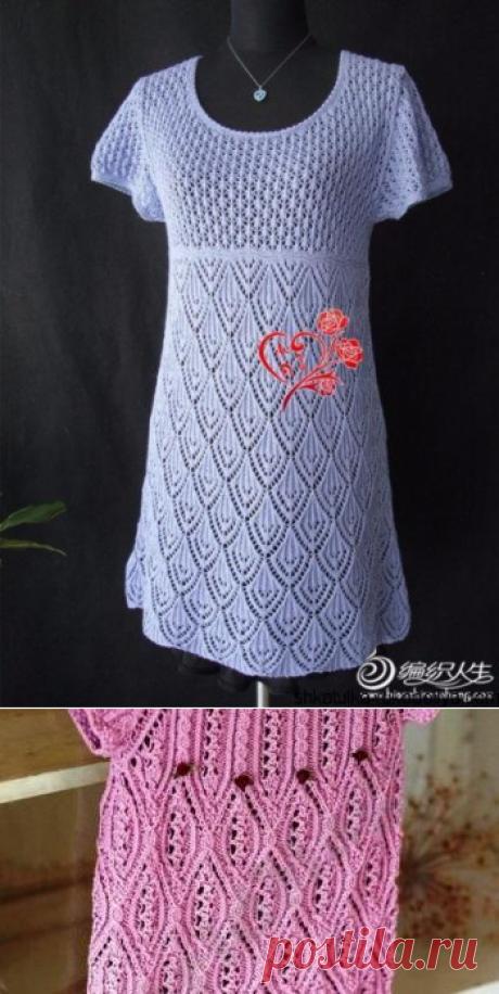 Ажурное платье спицами схема. Белое ажурное платье спицами | Шкатулка рукоделия