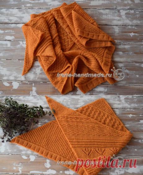 Скандинавский платок «Огонек» (вязание, схемы и фото) - Irena Handmade