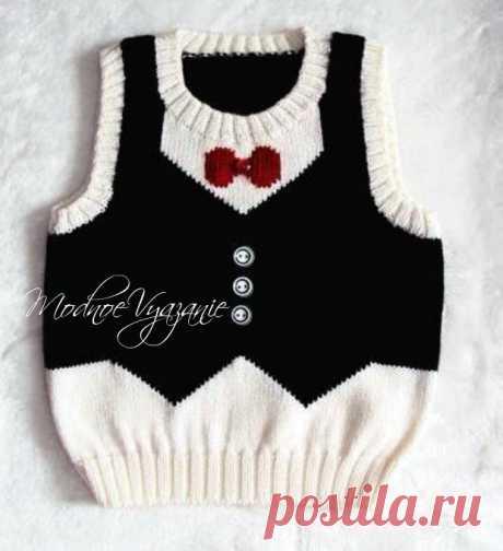 Vest for the boy * the Gentleman * - Modnoe Vyazanie ru.com
