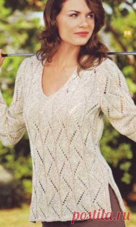 Пуловер (вязание спицами)