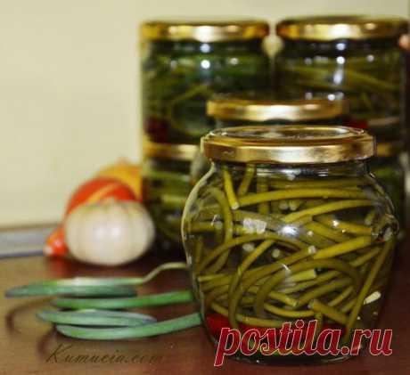 Marinuoti česnakų žiedkočiai | Kūmutės Virtuvė