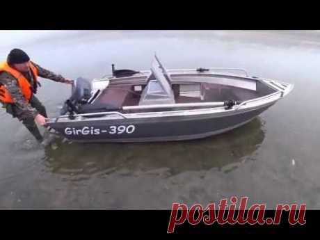 Лодка GirGis 390. Испытания на большой воде. г. Ростов-на-Дону.