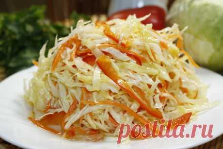 Самый вкусный салат из капусты в горячем маринаде. Очень удачный и простой рецепт | Мастерская идей | Яндекс Дзен