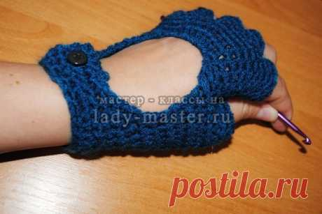 Fashionable youth mitts a hook, the master - a class with a photo, step by step