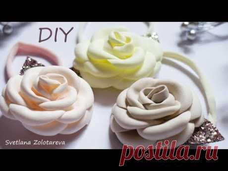 Цветы из фоамирана Розы Повязка для девочки