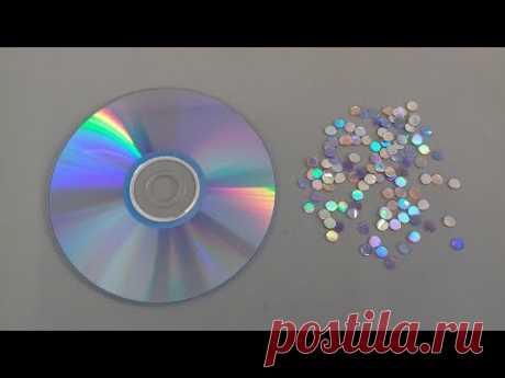 Como fazer lantejoulas com DVD