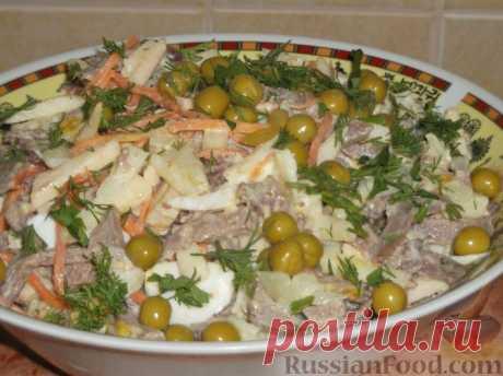 Салат с языком - 30 рецептов с фото