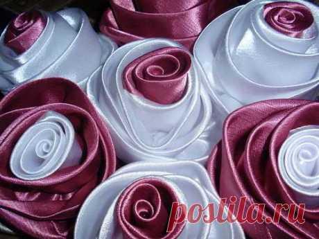 Изготовление букета роз из ткани для штор. Видео и фото мастер-классы