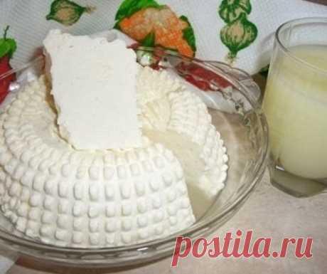 """Замечательный рецепт домашнего сыра. Быстрый и """"без заморочек"""""""