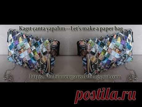 Kagıt çantaya fermuar dikiyoruz--Geridönüşüm--Recycle - YouTube