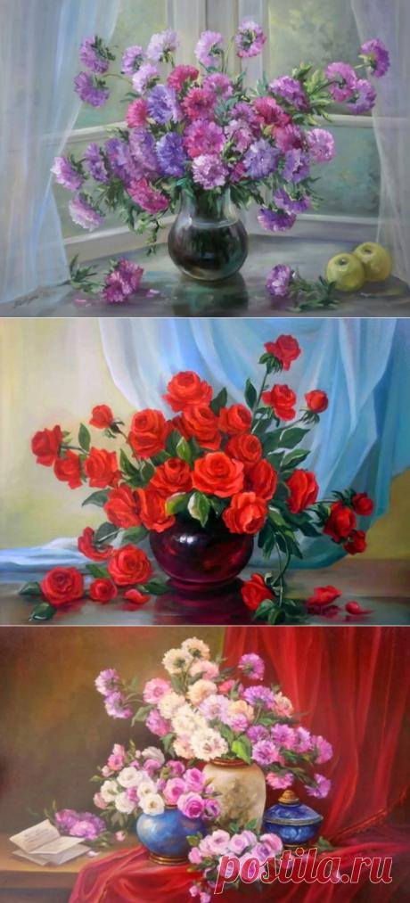 Изумительные цветочные натюрморты Anca Bulgaru