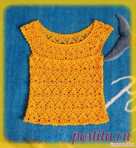 . Лилейный топ и комбинированная юбка для дочки. Ожидание лета :) - Вязание - Страна Мам