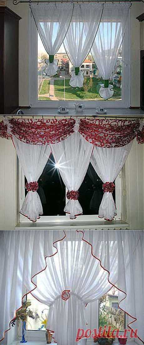 We make out a window in kitchen: easy white curtains - we Learn to Do All to Sami