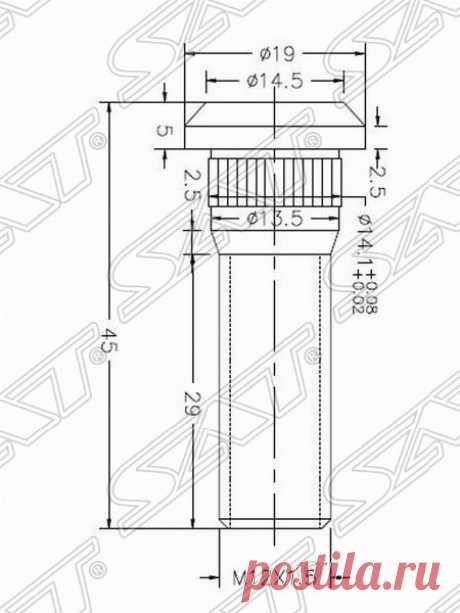 ST-90942-02049 Шпилька ступицы TOYOTA SAT - Akio Avto