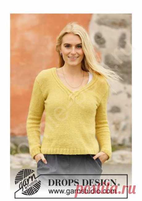 Пуловер Harvest Gold от DROPS Design