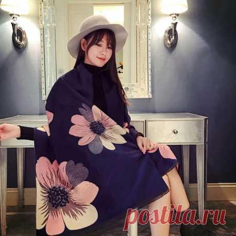 Женское кашемировое пончо Mingjiebihuo, Толстая теплая двухсторонняя однотонная накидка с кисточками и рукавами для осени и зимы|Женские шарфы