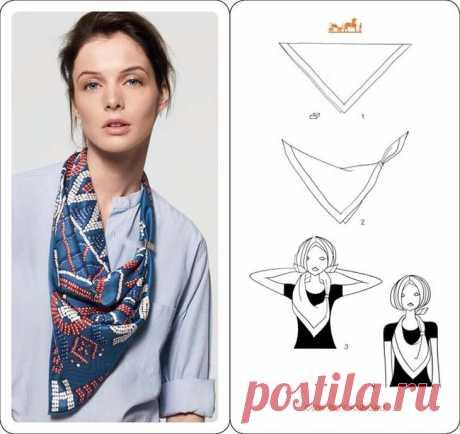 Как носить шелковый платок этой осенью — подборка раздичных вариантов от Hermès