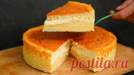 Рецепт чудо-пирога, который в процессе выпекания сам разделяется на бисквит и заварной крем