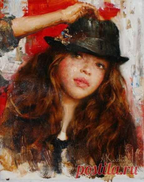 Женский образ в работах художника Андрея Карташова.