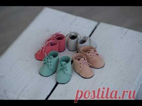 (9) Ботиночки для куклы. Мастер-класс - YouTube