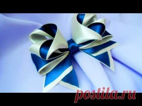 Bows from satin ribbons 3D MK\/DIY Beautiful bow of satin ribbons\/PAP Laço fitas de cetim#99