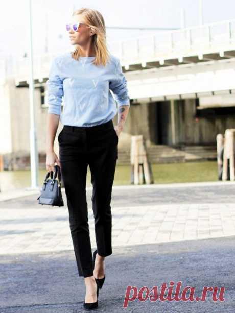 На все времена: 15 образов с черными брюками-дудочками — Модно / Nemodno