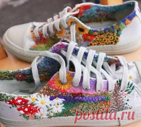 Вышивка на обуви: идеи для вдохновения ~ Свое рукоделие