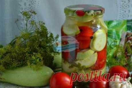 Ассорти из цуккини и помидоров на зиму без стерилизации: пошаговый рецепт с фото