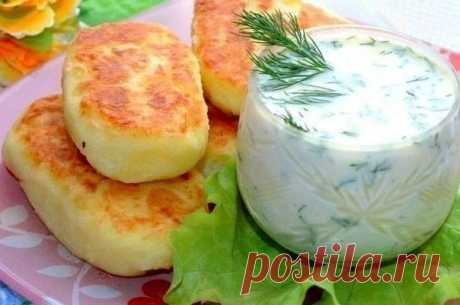 How to make potato fritters with cheese. - recipe, ingredients and photos