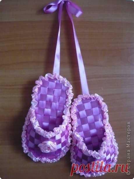 Тапочки-сувенир из лент
