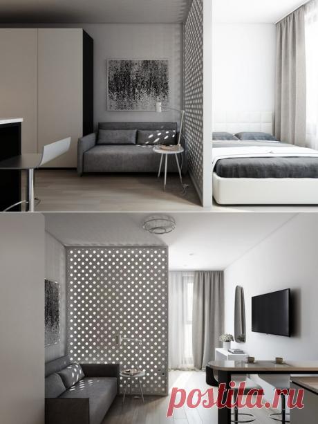 Проект студии площадью 32 кв.м. - Дизайн интерьеров   Идеи вашего дома   Lodgers