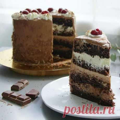 Рецепт шоколадно-вишневого торта | HomeBaked