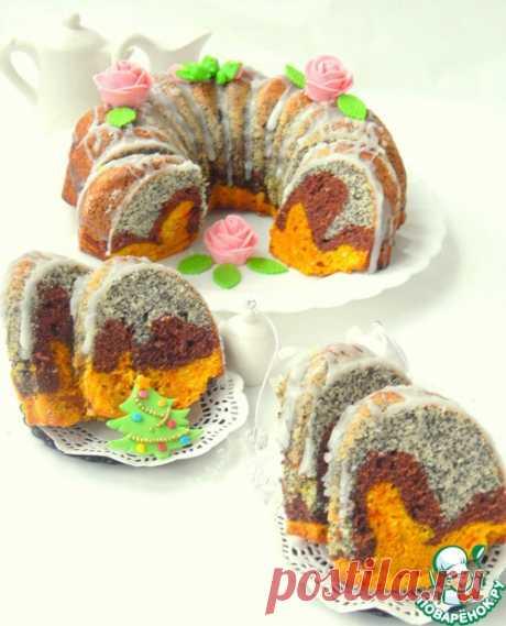 """Трёхслойный кекс """"Три вкуса"""" - кулинарный рецепт"""