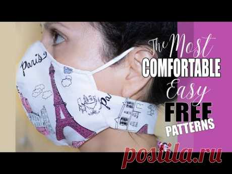 Fabric Face Mask with Velcro Neck Support   The BEST Easy DIY Fabric Face Mask with 9 FREE PATTERNS.
