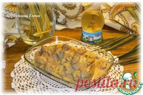 Куриная печень по-французски