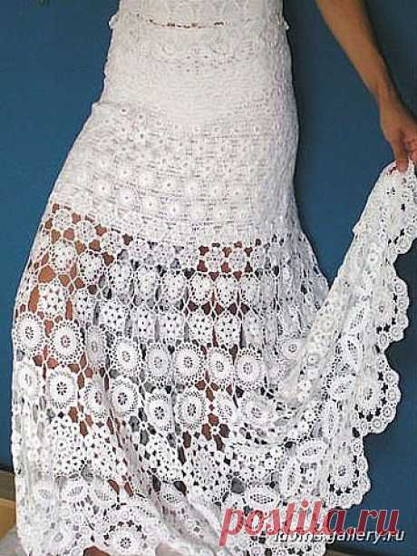 """TREMENDOUS BEAUTY SKIRT... with schemes...: Diary of \""""We KNIT ACCORDING TO the DESCRIPTION\"""" group: Groups - the female social network myJulia.ru"""
