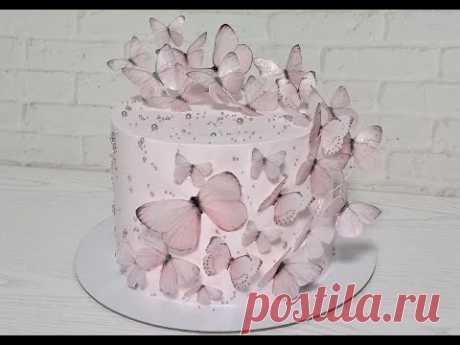 Как сделать порхающие бабочки из вафельной бумаги на торт. БАБОЧКИ ИЗ ВАФЕЛЬНОЙ БУМАГИ