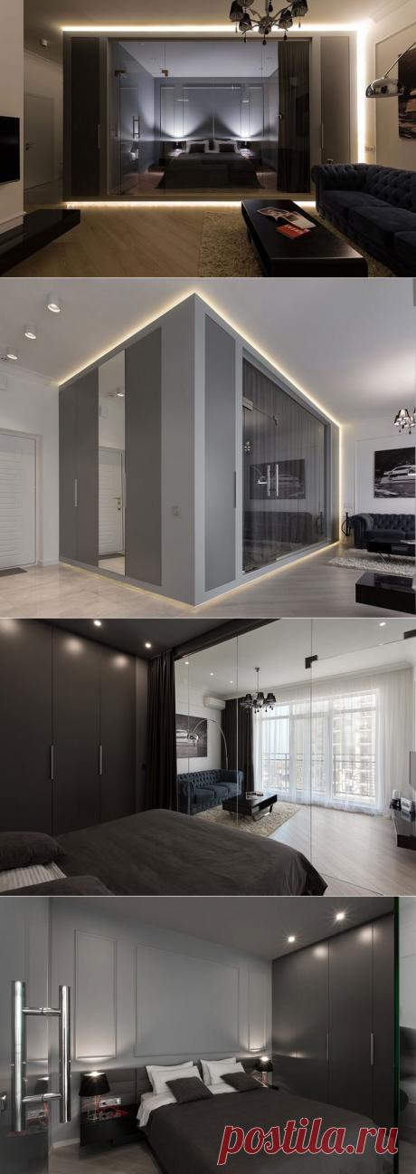 Небольшая квартира со стеклянным кубом в Одессе (50 кв. м) - Дизайн интерьеров | Идеи вашего дома | Lodgers
