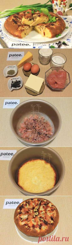 Сырный пирог с курицей в мультиварке - рецепт для мультиварки - patee.ru