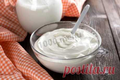 Домашняя сметана из молока и кефира рецепт с фото - 1000.menu