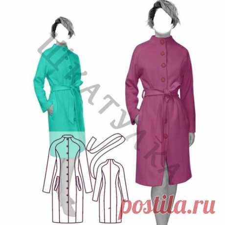 Выкройка демисезонного пальто реглан Размеры 40 - 68 Весь размерный ряд в источнике: https://materials.tell4all.ru/vykrojka-demisezonnogo-p..