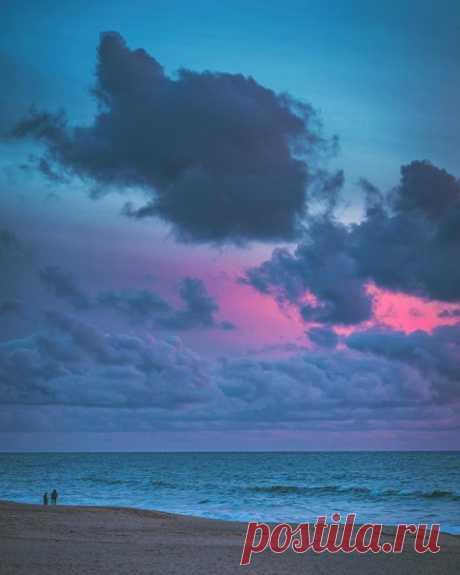 Hа берегу океана